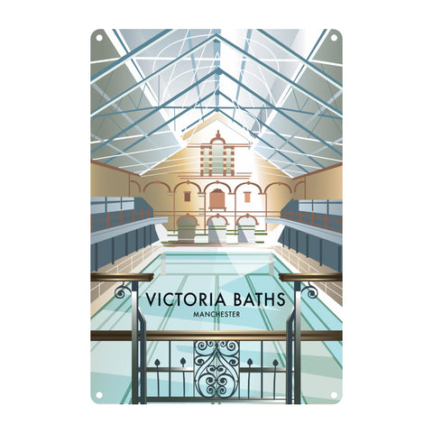 Victoria Baths, Manchester Metal Sign