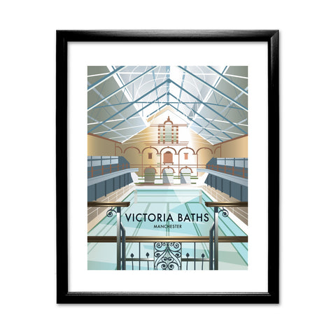 Victoria Baths, Manchester 11x14 Framed Print (Black)