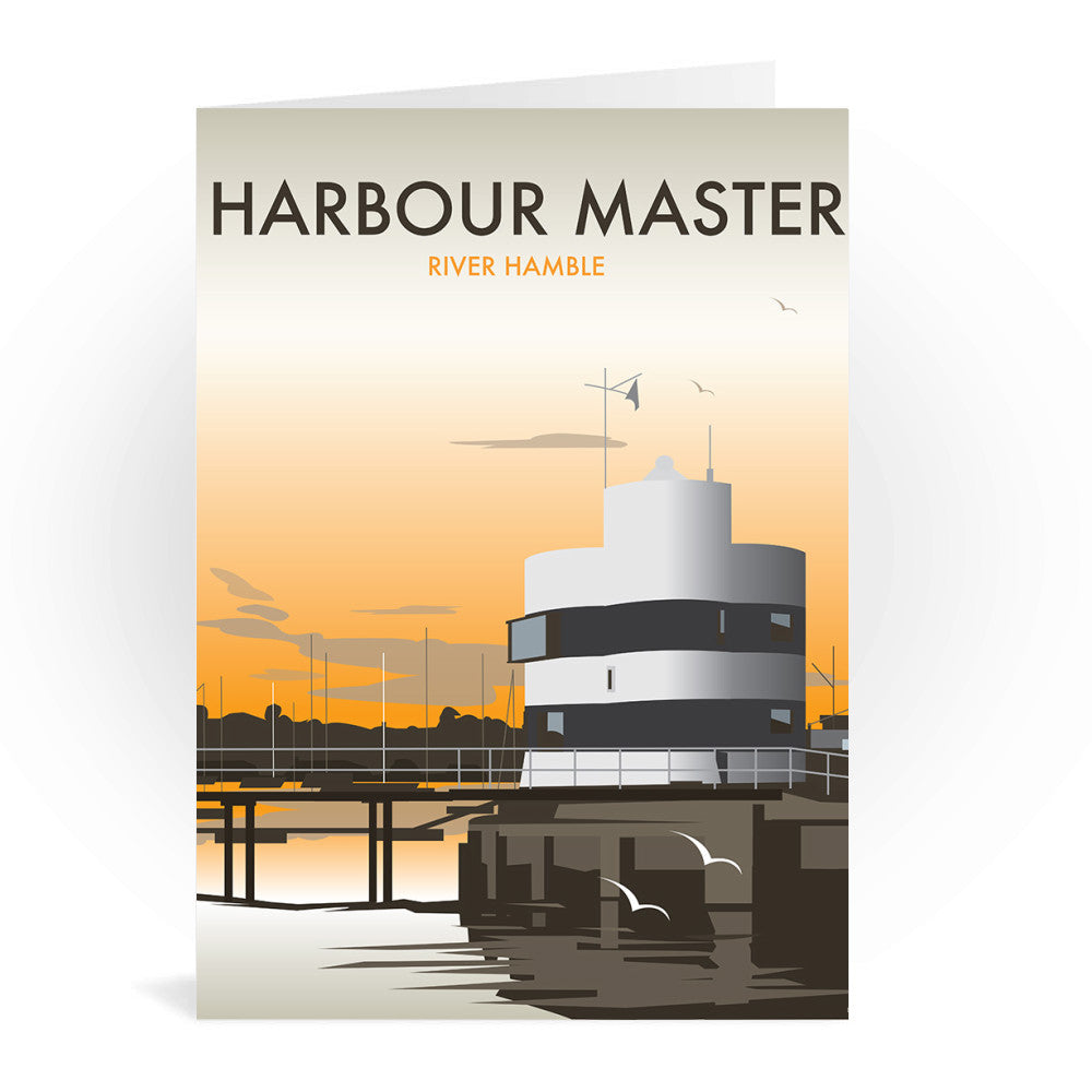 Harbour Master, River Hamble Greeting Card 7x5