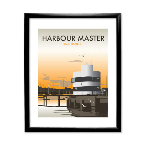 Harbour Master, River Hamble 11x14 Framed Print (Black)