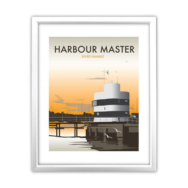 Harbour Master, River Hamble 11x14 Framed Print (White)