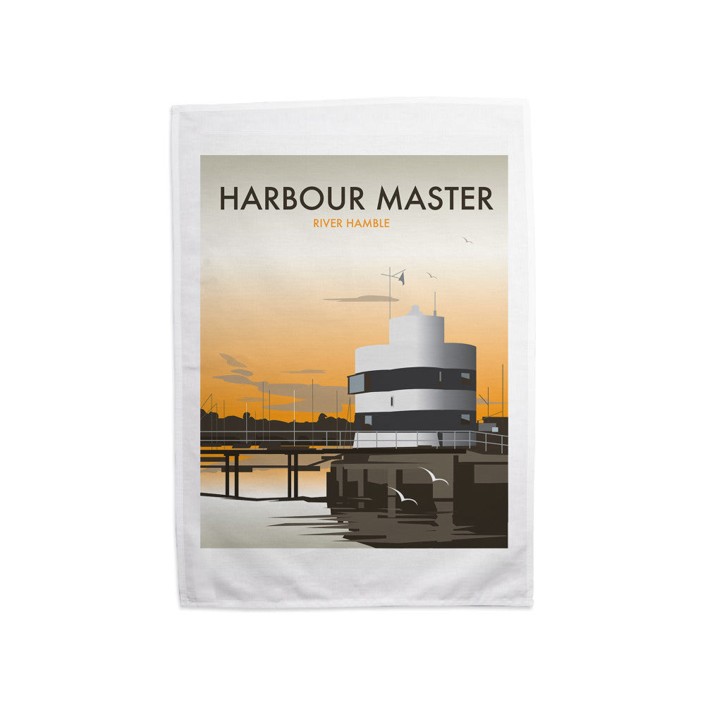 Harbour Master, River Hamble Tea Towel