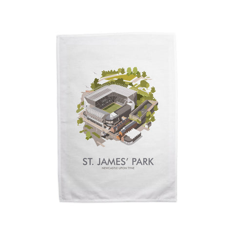 St James Park, Newcastle Upon Tyne Tea Towel