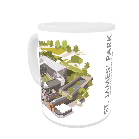 St James Park, Newcastle Upon Tyne Coloured Insert Mug