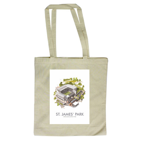 St James Park, Newcastle Upon Tyne Canvas Tote Bag