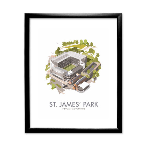 St James Park, Newcastle Upon Tyne 11x14 Framed Print (Black)