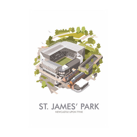 St James Park, Newcastle Upon Tyne Metal Sign