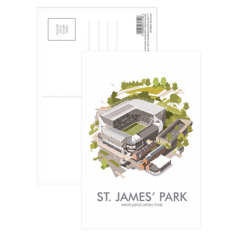 St James Park, Newcastle Upon Tyne Postcard Pack