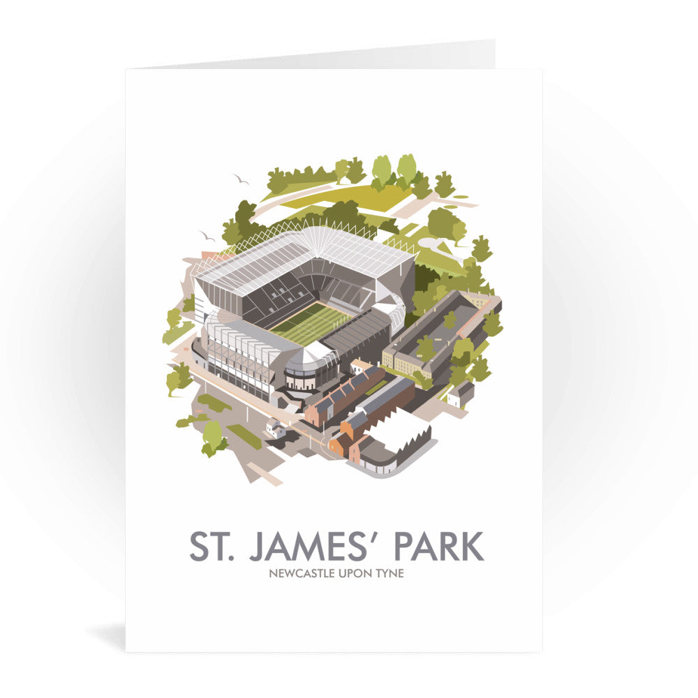 St James Park, Newcastle Upon Tyne Greeting Card 7x5