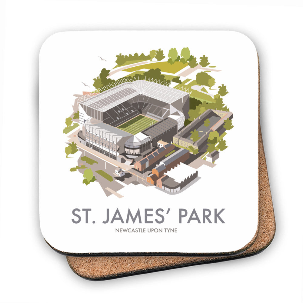 St James Park, Newcastle Upon Tyne MDF Coaster