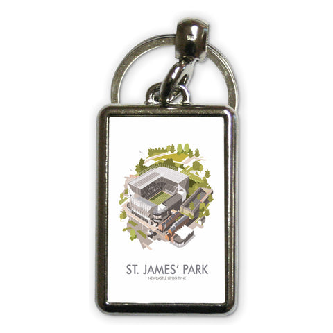 St James Park, Newcastle Upon Tyne Metal Keyring