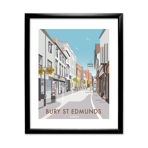 Bury St Edmunds, Suffolk 11x14 Framed Print (Black)