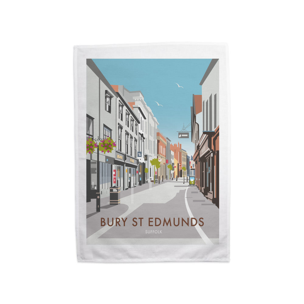Bury St Edmunds, Suffolk Tea Towel