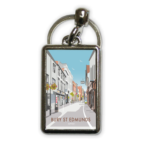 Bury St Edmunds, Suffolk Metal Keyring