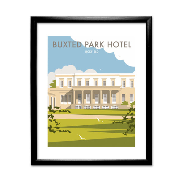 Buxted Park Hotel, Uckfield 11x14 Framed Print (Black)