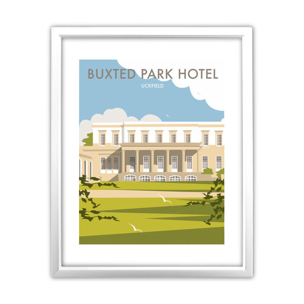 Buxted Park Hotel, Uckfield 11x14 Framed Print (White)