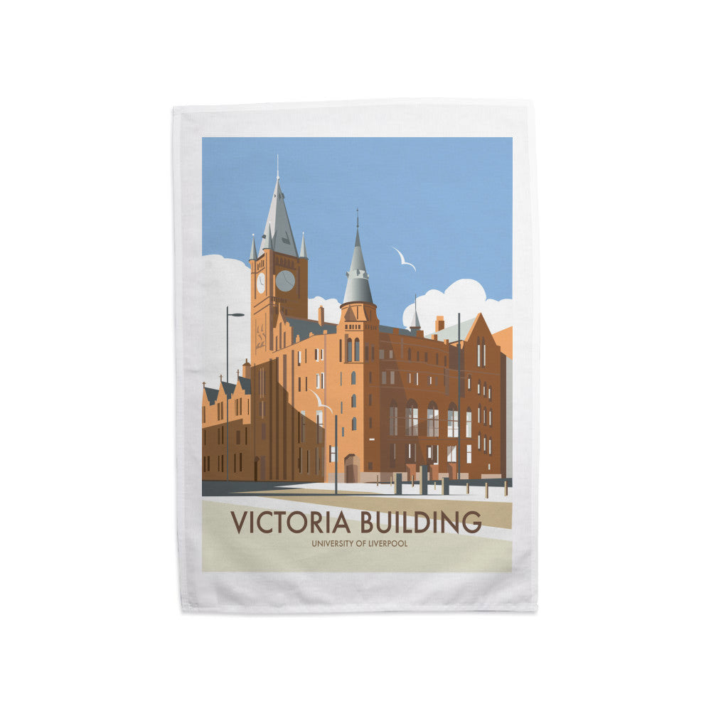 Victoria Building, University Of Liverpool Tea Towel