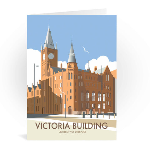 Victoria Building, University Of Liverpool Greeting Card 7x5