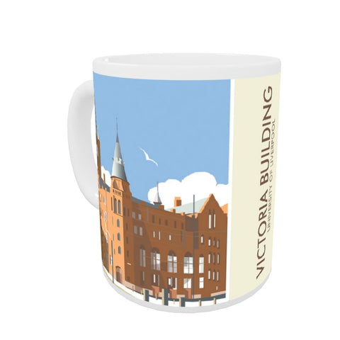 Victoria Building, University Of Liverpool Coloured Insert Mug