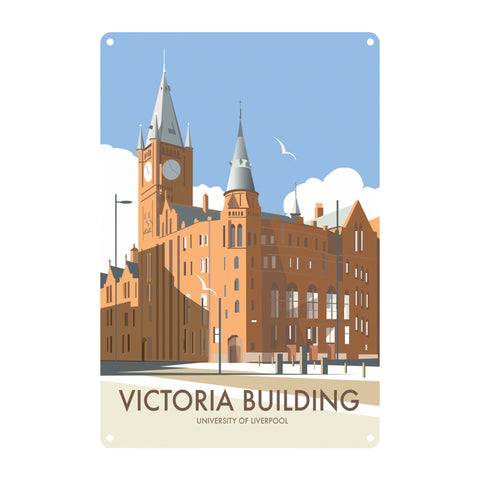 Victoria Building, University Of Liverpool Metal Sign