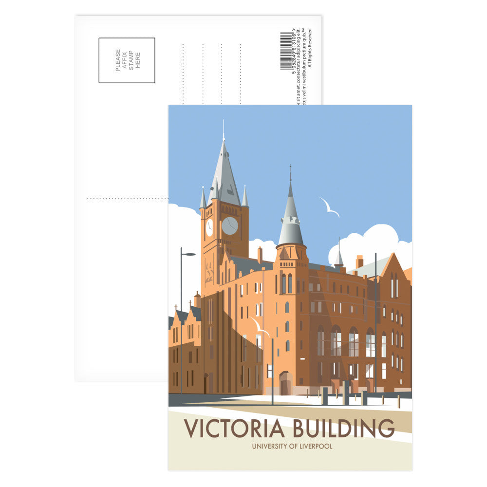 Victoria Building, University Of Liverpool Postcard Pack