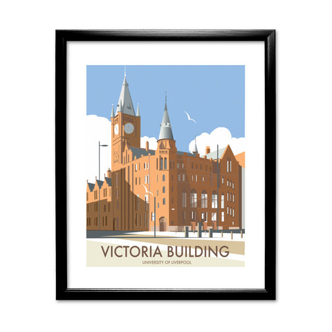 Victoria Building, University Of Liverpool 11x14 Framed Print (Black)