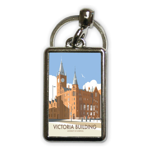 Victoria Building, University Of Liverpool Metal Keyring