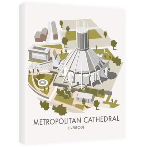 Metropolitan Cathedral, Liverpool 40cm x 60cm Canvas