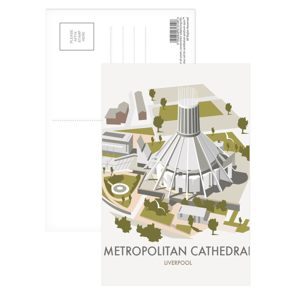 Metropolitan Cathedral, Liverpool Postcard Pack