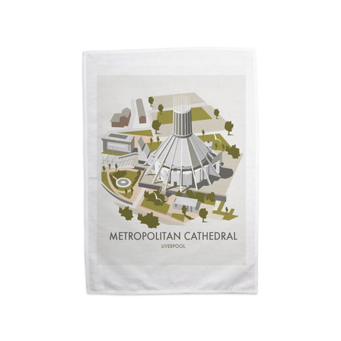 Metropolitan Cathedral, Liverpool Tea Towel