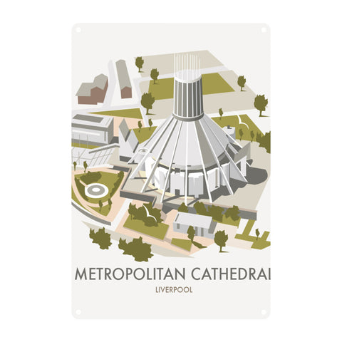 Metropolitan Cathedral, Liverpool Metal Sign