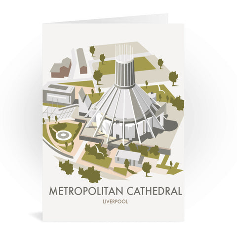 Metropolitan Cathedral, Liverpool Greeting Card 7x5