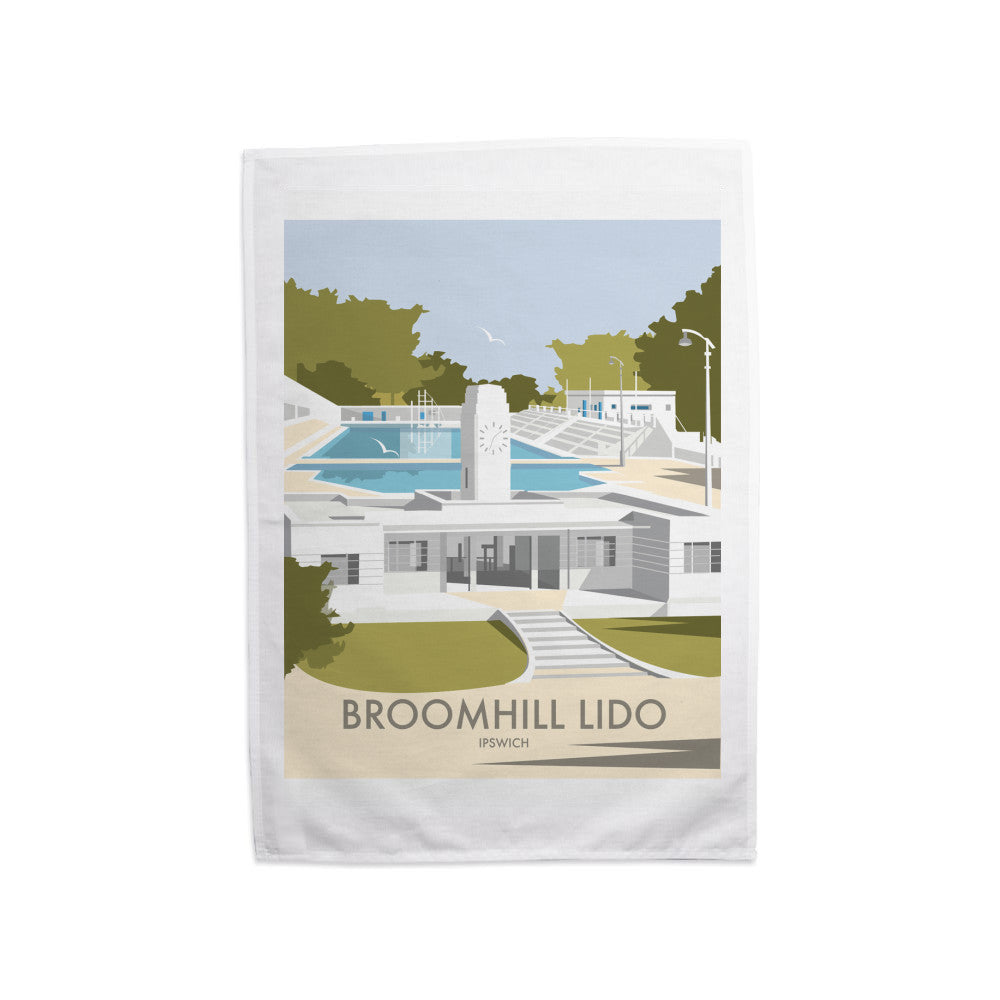 Broomhill Lido, Ipswich Tea Towel