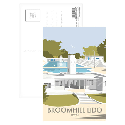 Broomhill Lido, Ipswich Postcard Pack