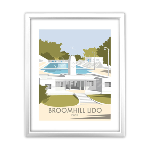 Broomhill Lido, Ipswich 11x14 Framed Print (White)