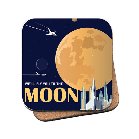To the Moon - MDF Coaster