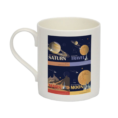Space Travel - Bone China Mug