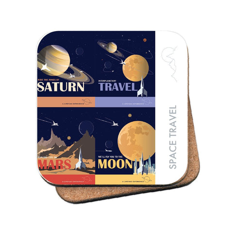 Space Travel - MDF Coaster