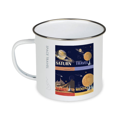 Space Travel - Enamel Mug