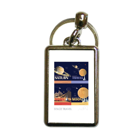 Space Travel - Metal Keyring