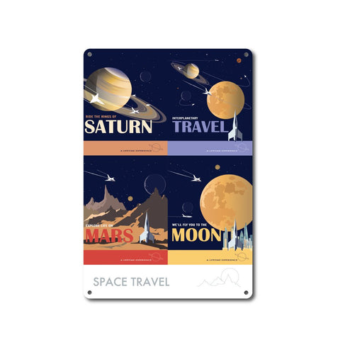 Space Travel - Metal Sign