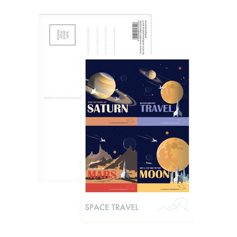 Space Travel - Postcard