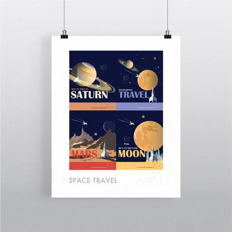 Space Travel - Framed Print
