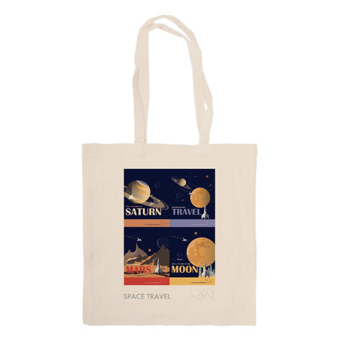Space Travel - Canvas Tote Bag