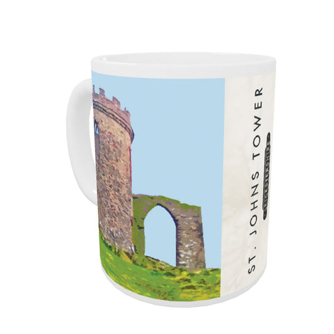 St Johns Tower, Leicestershire Coloured Insert Mug