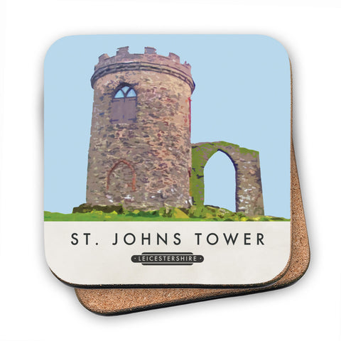 St Johns Tower, Leicestershire MDF Coaster