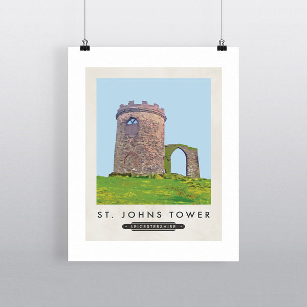 St Johns Tower, Leicestershire 11x14 Print