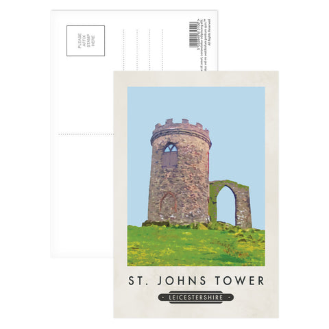 St Johns Tower, Leicestershire Postcard Pack