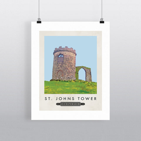 St Johns Tower, Leicestershire 90x120cm Fine Art Print