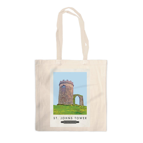 St Johns Tower, Leicestershire Canvas Tote Bag